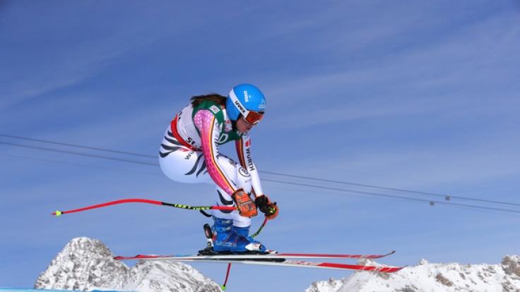 Auf ihr liegen am Freitag alle Hoffnungen: Kira Weidle aus Deutschland, hier beim Training der Abfahrt in St. Moritz.