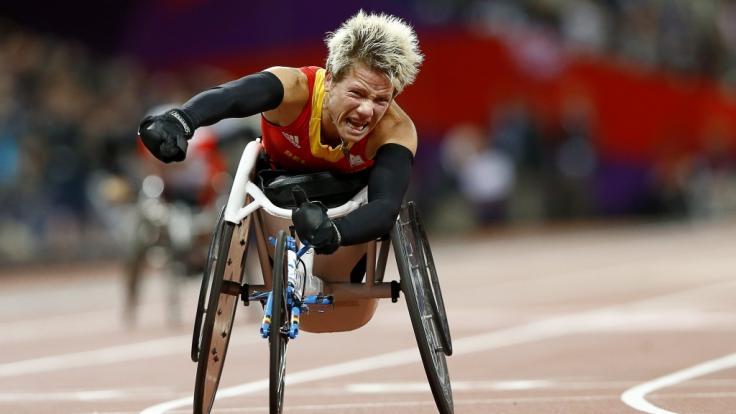 Die Rollstuhlleichtathletin Marieke Vervoort aus Belgien, hier bei den Paralympischen Spielen 2012 in London, ist im Alter von 40 Jahren gestorben.