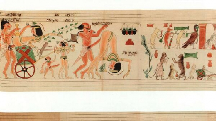 Bunt treiben es Ägypter vor mehr als 3000 auf dem erotischen Papyrus.