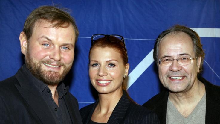 """Die Schauspieler Devid Striesow (l-r), Elisabeth Brück und Hartmut Volle ermittelten im Saarländer """"Tatort"""". (Foto)"""