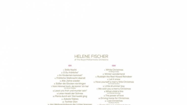 Helene Fischer verrät auf Facebook die Songtitel ihres Weihnachtsalbums.