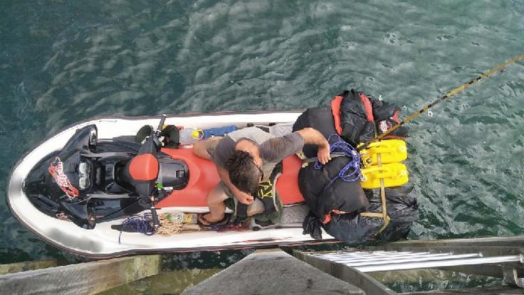 Das Ende eines ungewöhnlichen Fluchtversuches aus Australien. (Foto)