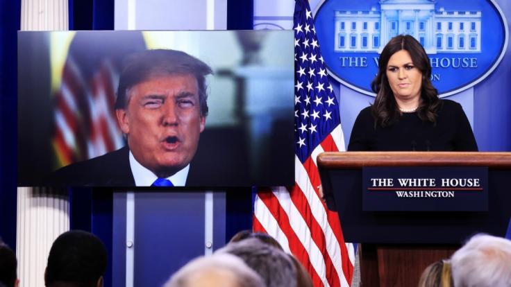 Trump-Sprecherin Sarah Sanders möchte sich mehr um ihre Familie kümmern. (Foto)