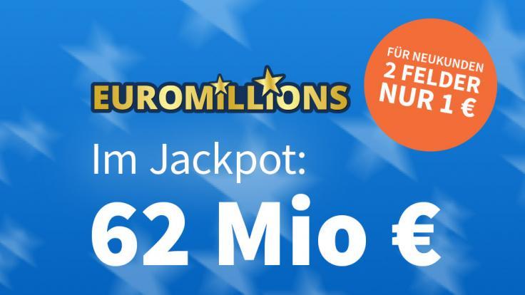 Am Freitag liegen 62 Millionen Euro im Euromillions-Jackpot. (Foto)