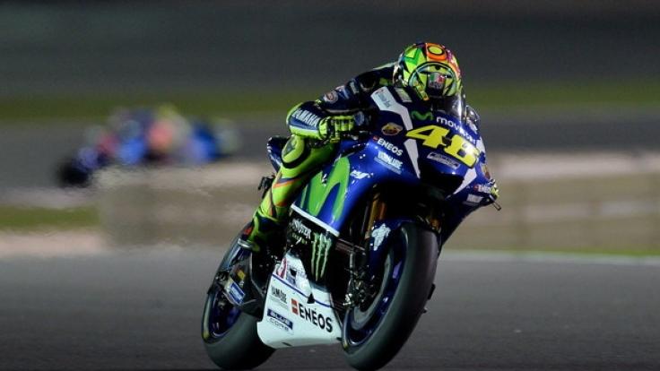 Der Italiener Valentino Rossi (38) starter in der Königsklasse MotoGP in Katar.