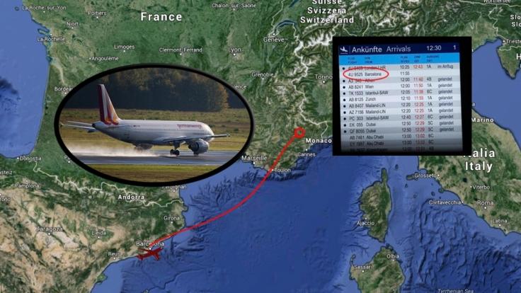 Die Germanwings-Maschine mit der Flugnummer 4U9525 ist auf dem Weg von Barcelona nach Düsseldorf im Département Alpes-de-Haute-Provence abgestürzt.