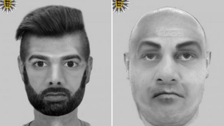 Mit diesen Phantombildern sucht die Polizei nach dem Vergewaltiger-Duo.