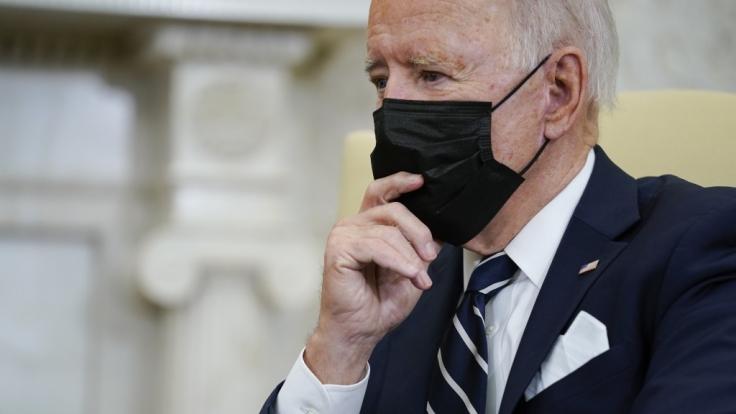 US-Präsident Joe Biden wirkte beim Treffen mit Israels Premierminister Naftali Bennett alles andere als fit. (Foto)