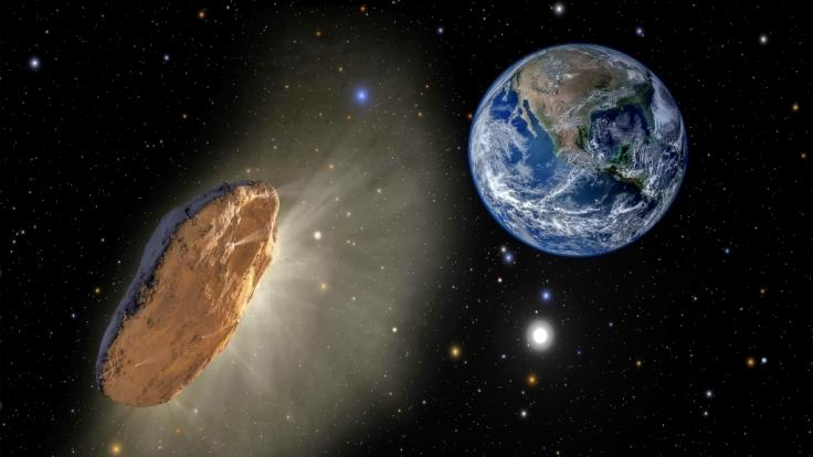 Immer wieder kommen riesige Asteroiden in Erdnähe. (Foto)