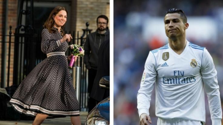 Cristiano Ronaldo eifert Kate Middleton nach.