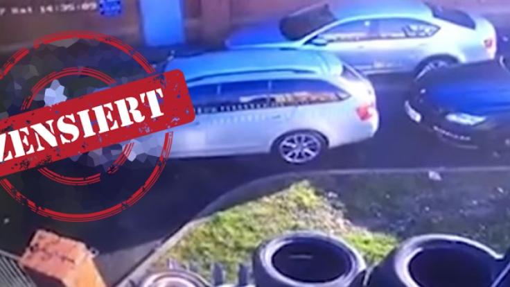 In Manchester filmte eine Überwachungskamera eine bizarre Sex-Szene auf einem Parkplatz. (Foto)