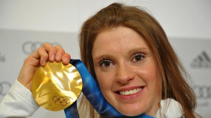 Die Wintersportlerin Evi Sachenbacher-Stehle erhielt zahlreiche Auszeichnungen.
