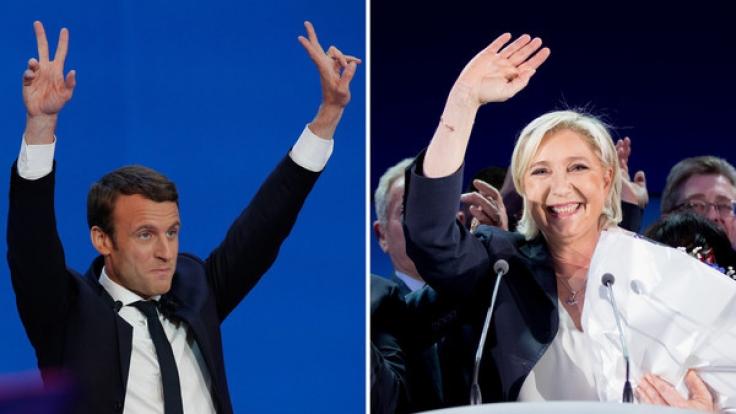 Schicksalswahl in Frankreich: Mit mehr als 65 Prozent setzte sich Emmanuel Macron gegen die Rechtspopulistin Marine Le Pen durch. (Foto)
