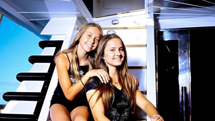 Shania und Davina Geiss. (Foto)