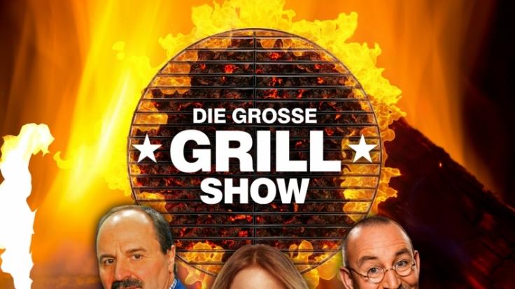 Johann Lafer, Mirjam Weichselbraun und Horst Lichter moderieren die internationale Grillshow. (Foto)