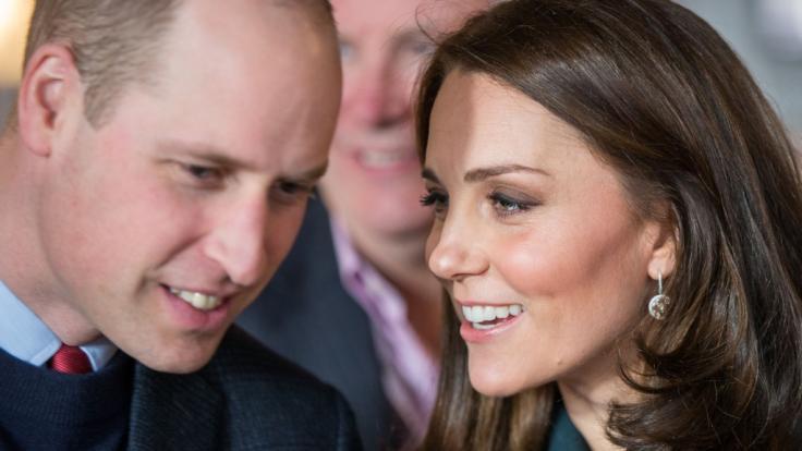 Ob Kate Middleton und Prinz William hier über den Namen ihres dritten Babys diskutieren? (Foto)