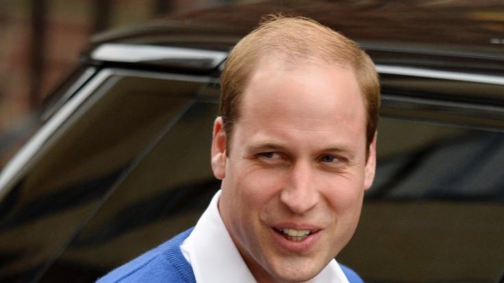 Er steht zu seiner Glatze: Prinz William.
