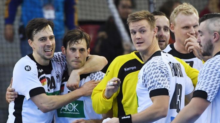 Die deutschen Handballer hatten nach dem Vorrundensieg gegen Ungarn bei der Handball-WM 2017 allen Grund zum Jubeln.