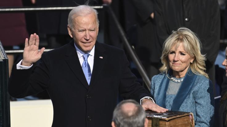 Kaum ist der neue US-Präsident im Amt, wird Joe Biden auch schon heftig für einen Fauxpas kritisiert (Foto)