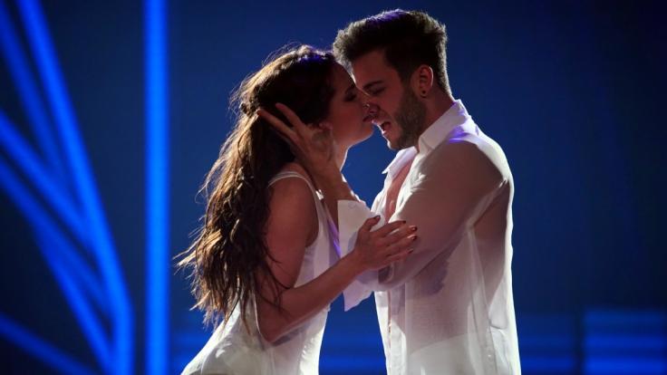 Luca Hänni und Christina Luft bekamen für ihren verführerischen Porno-Tanz 30 Punkte. (Foto)