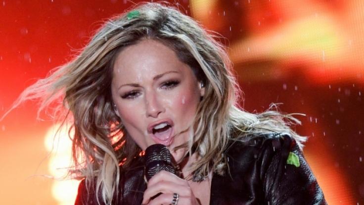 Helene Fischer bei der Eurovision Song Contest Party: In Lack und Leder verzauberte Helene ihre Fans in Hamburg. (Foto)