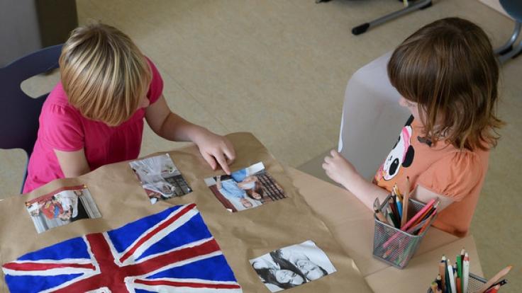 Die Kinder vom Verein Straßenkinder e.V. können den Besuch der Royals kaum erwarten.