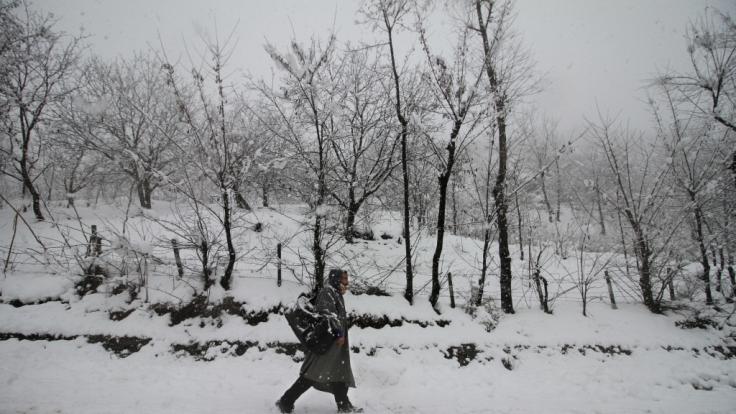 Indien wird zum Jahreswechsel 2018/19 von Schneemassen heimgesucht.