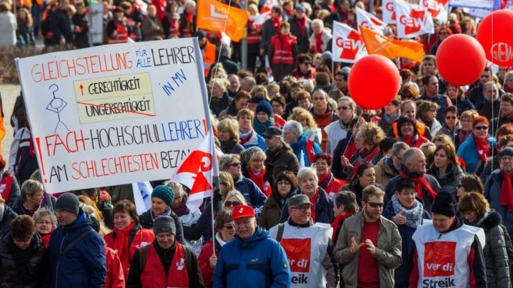 Lehrerstreik.