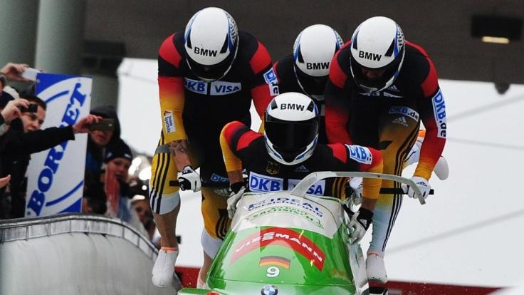 Der deutsche Viererbob mit Thomas Florschütz, Kevin Kuske, Andreas Bredau und Christian Poser fuhr im Januar erfolgreich beim Bob-Weltcup. Holen sich die deutschen Rodler in Olympia eine Medaille?