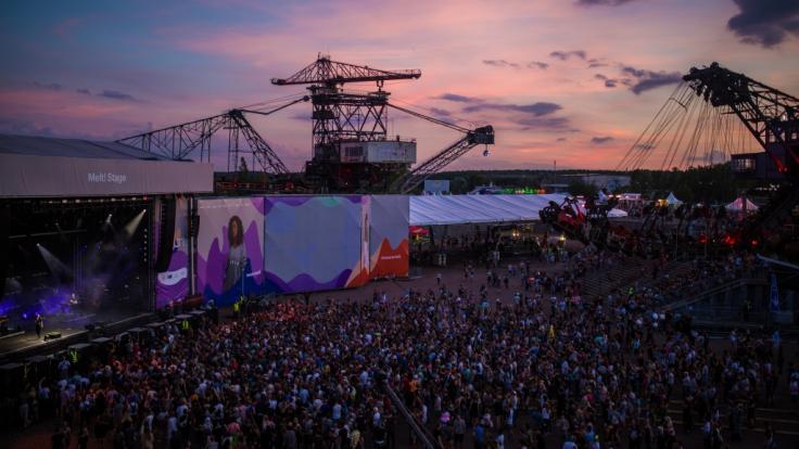 """Das """"Melt!"""" Festival findet alljährlich in der Baggerstadt Ferropolis in Gräfenhainichen (Sachsen-Anhalt) statt. (Foto)"""