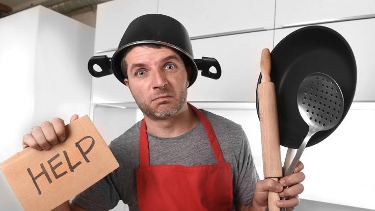 Mehr als ein Drittel der Männer in Deutschländer können nicht kochen. (Foto)