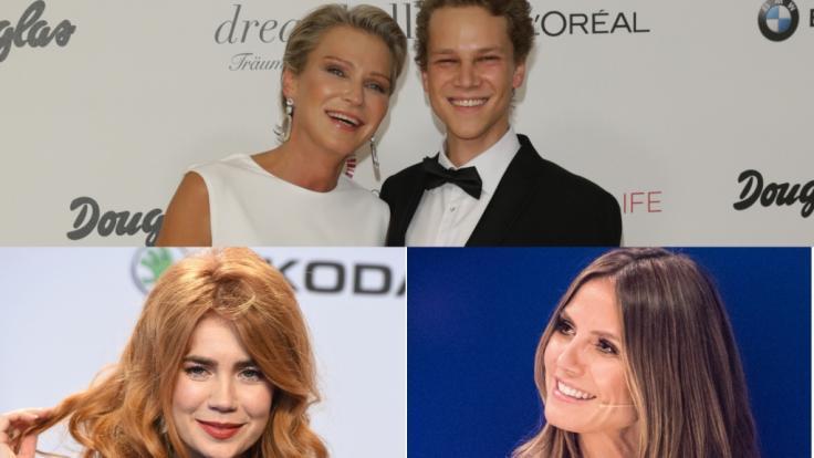 """Stephanie Gräfin von Pfuel mit Sohn Karl """"Charly"""" Bagusat, Moderatorin Palina Rojinski und Model Heidi Klum sorgten in den vergangenen Tagen für Promi-Schlagzeilen. (Foto)"""