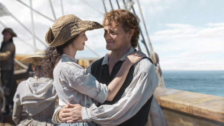 Claire Randall (Caitriona Balfe) und Jamie Fraser (Sam Heughan).
