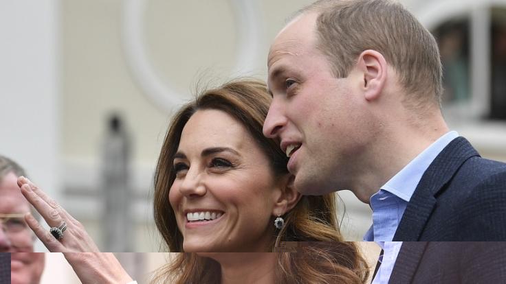 Der britische Prinz William und seine Frau Kate, Herzogin von Cambridge, sprechen erstmals über Baby Sussex. (Foto)