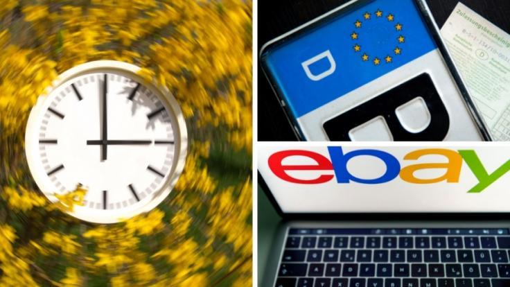 Im Oktober 2019 gibt es Neuerungen unter anderem bei der Fahrzeug-Anmeldung, Ebay und Zeitumstellung. (Foto)