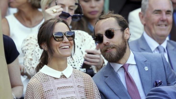 Pippa und James Middleton in der königlichen Loge beim Tennisturnier in Wimbledon.