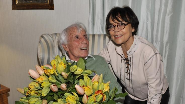 Simone Rethel-Heesters arbeitete auch mit ihrem Mann Johannes Heesters bis zu seinem Tod zusammen. (Foto)
