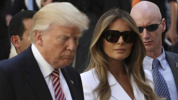 Glücklich sieht anders aus: Donald Trump und Melania wirken selten harmonisch. (Foto)