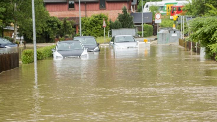 Durch das Unwetter wurden im Vogtland viele Straßen überflutet.
