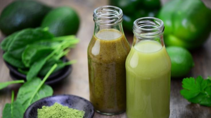 Grüne Smoothies wirken sich positiv auf die Gesundheit aus.