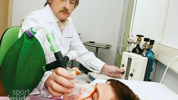 Sechs, bis sieben Stunden vor einer körperlicher Höchstleistung haben russische Sportler wohl Xenon inhaliert.