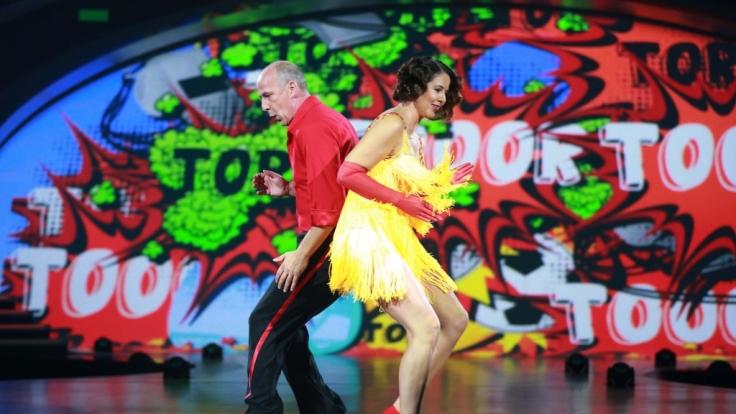 """Mario Basler und Doris Büld gaben in der zweiten Show von """"Stepping Out"""" ihr Bestes. (Foto)"""