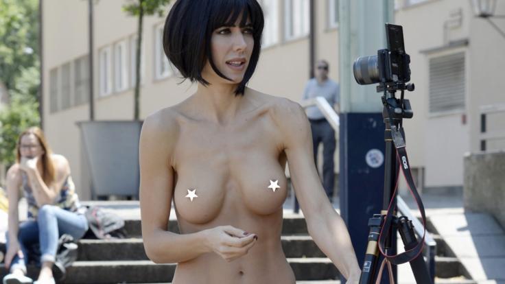 Nacktkünstlerin Milo Moiré ersinnt immer neue Performances, um zu schockieren.