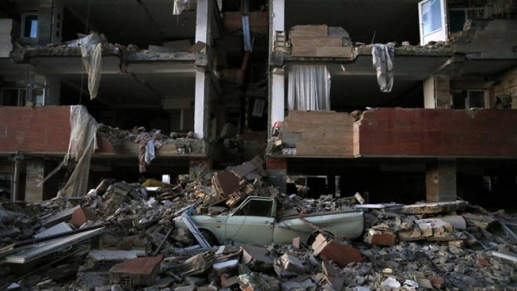 Ein schweres Erdbeben im Iran hat hunderte Opfer gefordert. (Foto)