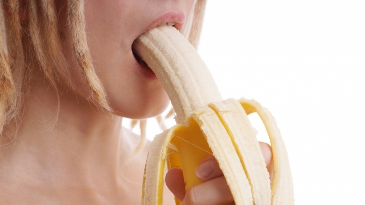 Bananen-Blowjob: Der ist definitiv vegan! (Foto)
