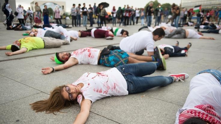 Flashmob für Palästina in Hamburg. (Foto)