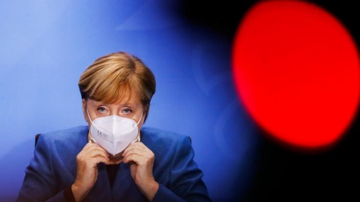Angela Merkel spricht zur aktuellen Corona-Lage. (Foto)