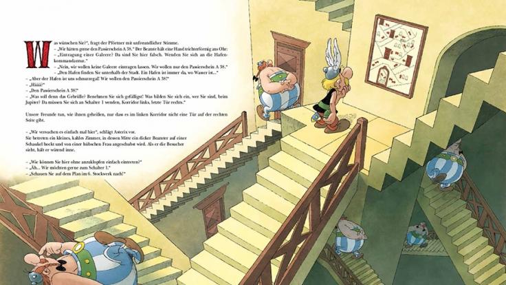 Der neue Asterix-Comic erscheint ganz ohne Sprechblasen. (Foto)