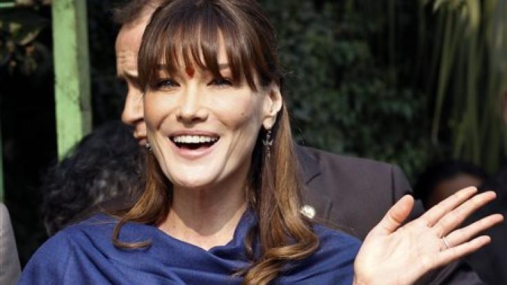 First Lady mit Glamour-Faktor: Das ehemalige Supermodel Carla Bruni-Sarkozy verleiht Frankreichs Staatspräsident Nicolas Sarkozy viel Glanz. (Foto)