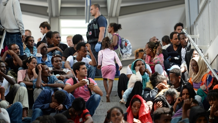 Flüchtlinge im bayerischen Rosenheim.